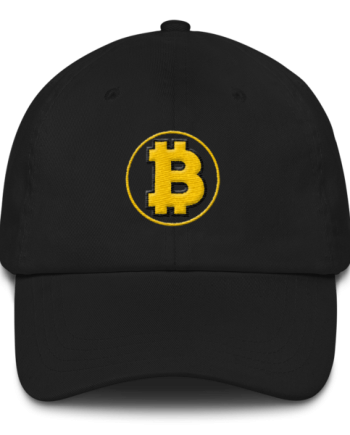 Bitcoin: The Original – 3D Puff – Low Profile Cap - Black - Front