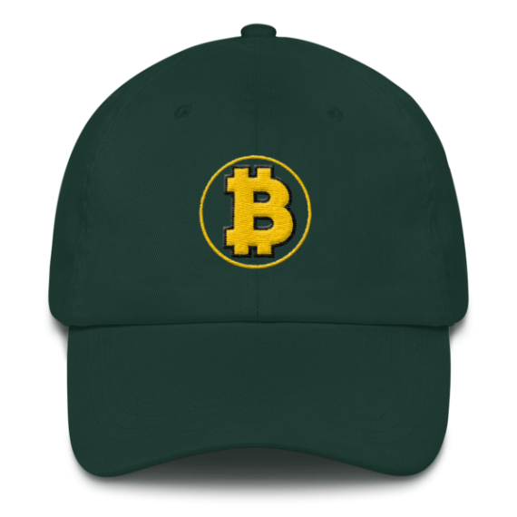 Bitcoin: The Original – 3D Puff – Low Profile Cap - Spruce - Front