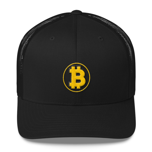 Bitcoin: The Original – 3D Puff – Retro Cap - Black - Front
