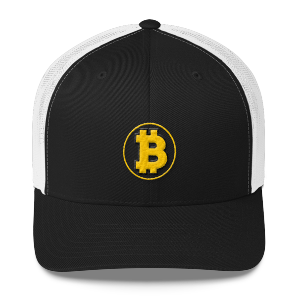 Bitcoin: The Original – 3D Puff – Retro Cap - Black/White - Front