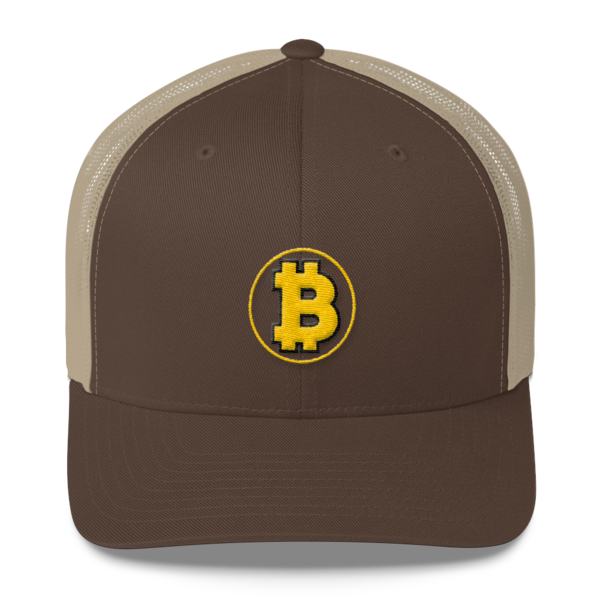 Bitcoin: The Original – 3D Puff – Retro Cap - Brown/Khaki - Front