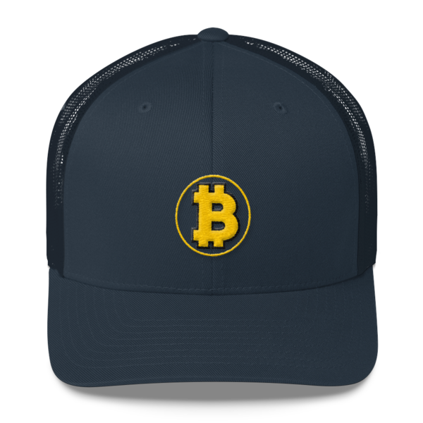 Bitcoin: The Original – 3D Puff – Retro Cap - Navy - Front