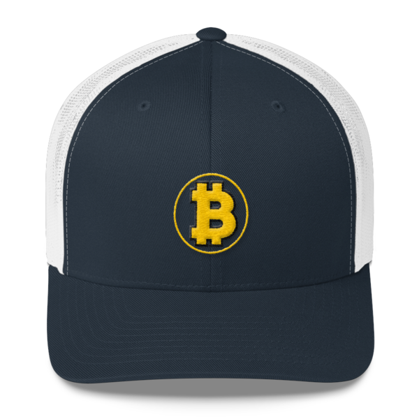 Bitcoin: The Original – 3D Puff – Retro Cap - Navy/White - Front