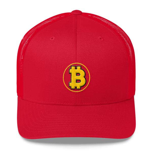 Bitcoin: The Original – 3D Puff – Retro Cap - Red - Front