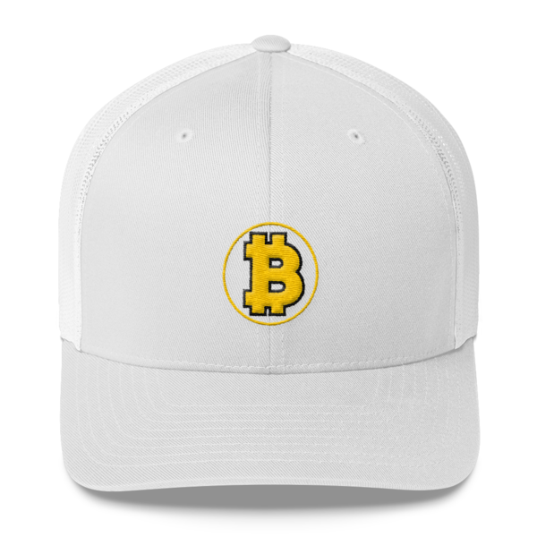 Bitcoin: The Original – 3D Puff – Retro Cap - White - Front