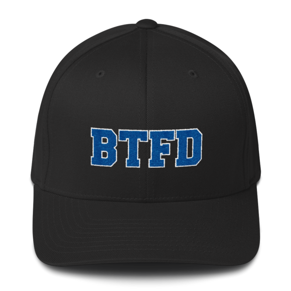 BTFD - Flat - Flexfit Structured Cap - Black - Front
