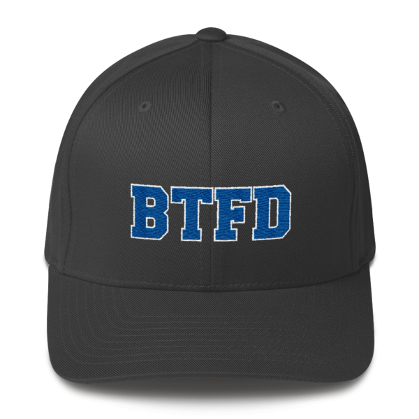 BTFD - Flat - Flexfit Structured Cap - Dark Grey - Front