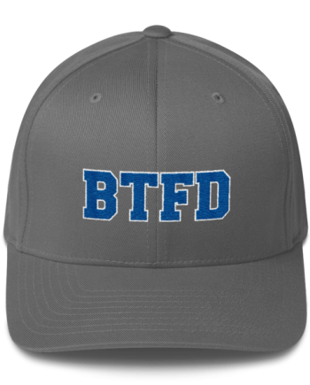 BTFD - Flat - Flexfit Structured Cap - Grey - Front