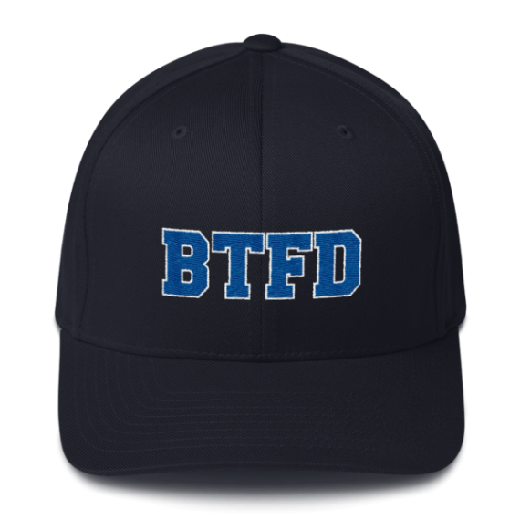 BTFD - Flat - Flexfit Structured Cap - Navy - Front