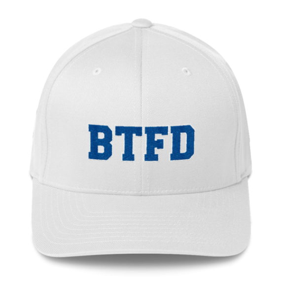 BTFD - Flat - Flexfit Structured Cap - White - Front