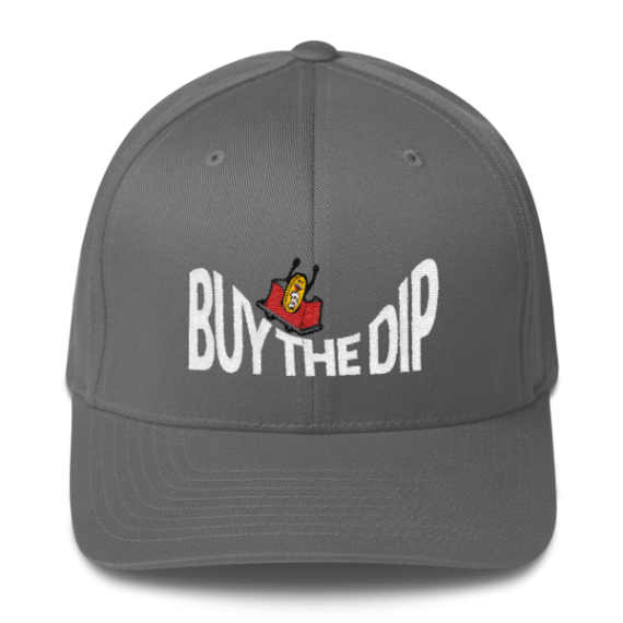 Buy The Dip – Flexfit Structured Cap – Dark - Grey - Front