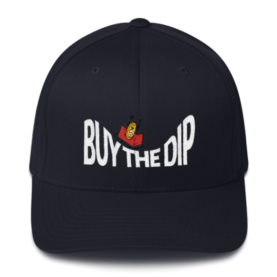Buy The Dip – Flexfit Structured Cap – Dark - Navy - Front