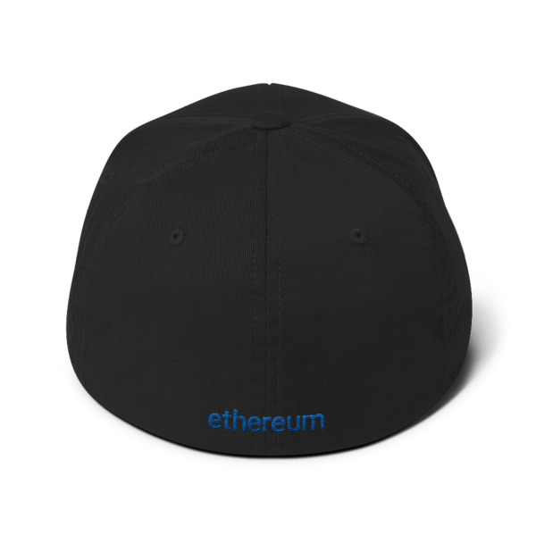 Ethereum logo – Flexfit Structured Cap - Black - Back