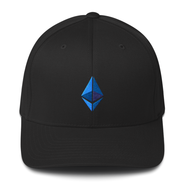 Ethereum logo – Flexfit Structured Cap - Black - Front