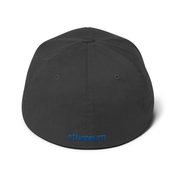 Ethereum logo – Flexfit Structured Cap - Dark Grey - Back