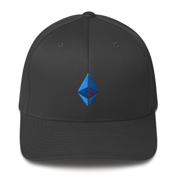 Ethereum logo – Flexfit Structured Cap - Dark Grey - Front