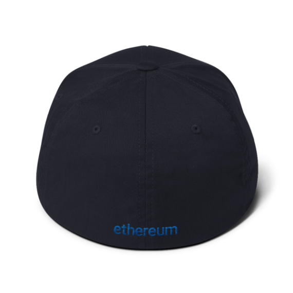 Ethereum logo – Flexfit Structured Cap - Dark Navy - Back