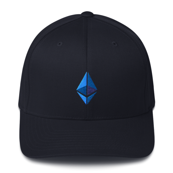 Ethereum logo – Flexfit Structured Cap - Dark Navy - Front