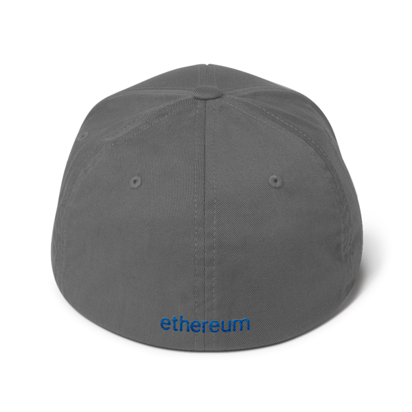 Ethereum logo – Flexfit Structured Cap - Grey - Back