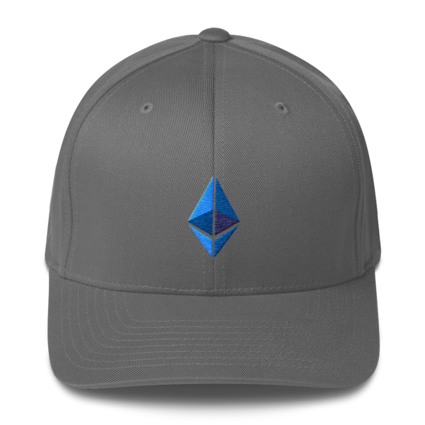 Ethereum logo – Flexfit Structured Cap - Grey - Front