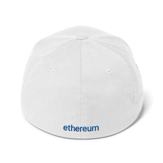 Ethereum logo – Flexfit Structured Cap - White - Back