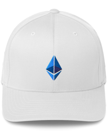 Ethereum logo – Flexfit Structured Cap - White - Front