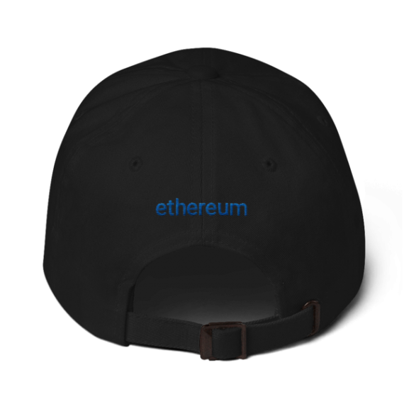 Ethereum logo – Low Profile Cap - Black - Back