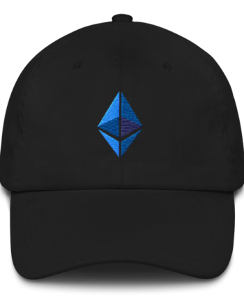 Ethereum logo – Low Profile Cap - Black - Front