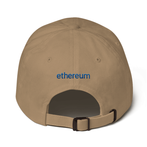 Ethereum logo – Low Profile Cap - Khaki - Back