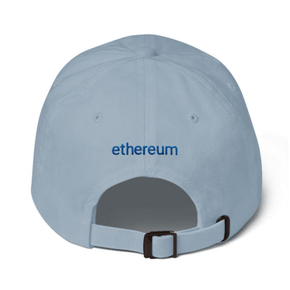 Ethereum logo – Low Profile Cap - Light Blue - Back