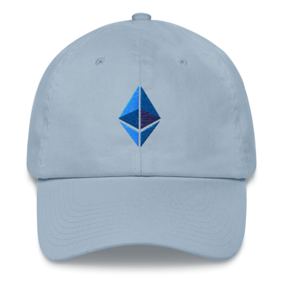 Ethereum logo – Low Profile Cap - Light Blue - Front