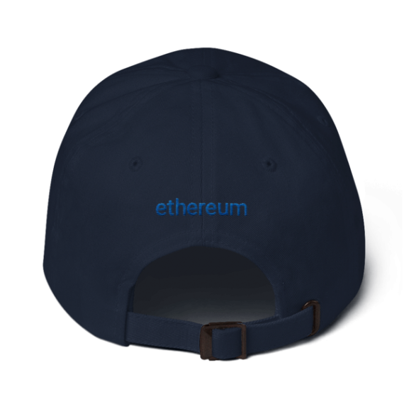 Ethereum logo – Low Profile Cap - Navy - Back