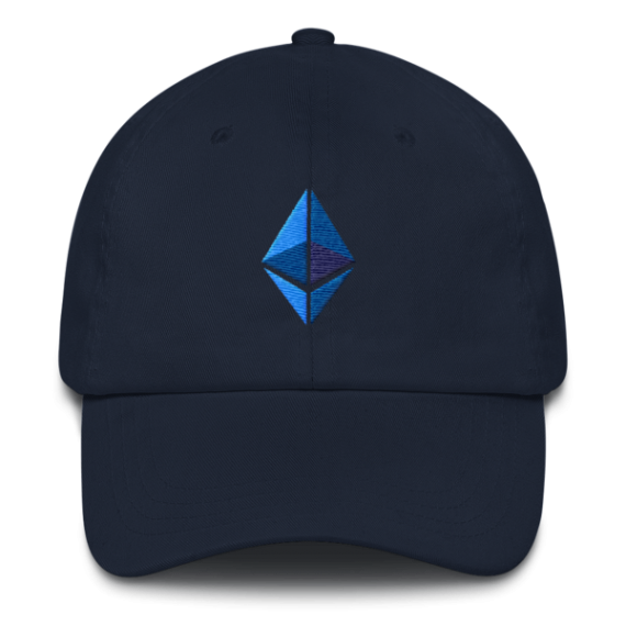 Ethereum logo – Low Profile Cap - Navy - Front