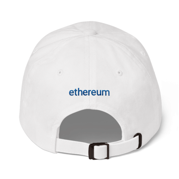Ethereum logo – Low Profile Cap - White - Back