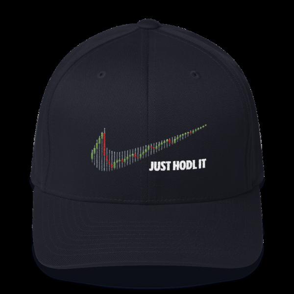 Just HODL it – Flexfit Structured Cap – Dark - Navy - Front