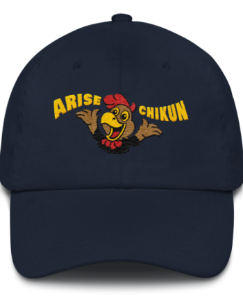 Litecoin hat - Arise Chikun! – Low Profile Cap - Dark - Navy