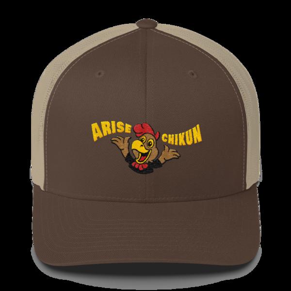 Litecoin hat - Arise Chikun! – Retro Trucker Cap - Brown/Khaki