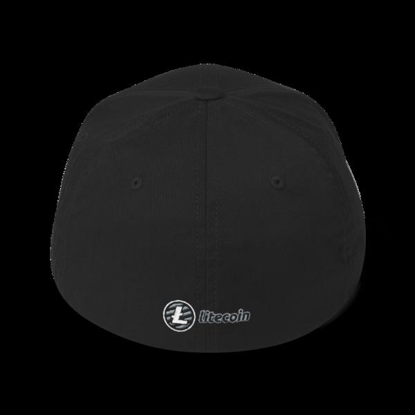 Just HODL it – Litecoin - Flexfit Structured Cap – Dark - Black - Back
