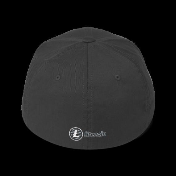 Just HODL it – Litecoin - Flexfit Structured Cap – Dark - Dark Grey - Back