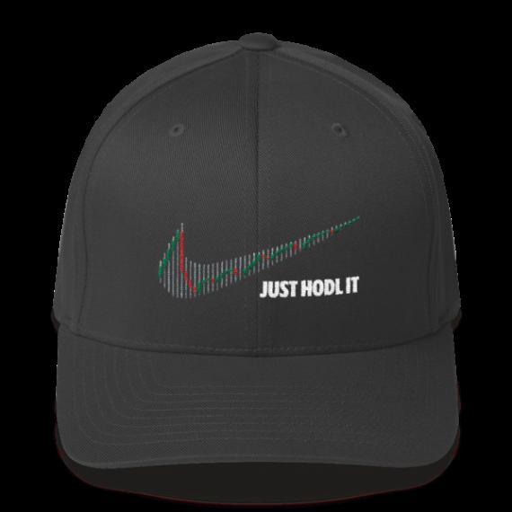 Just HODL it – Litecoin - Flexfit Structured Cap – Dark - Dark Grey - Front
