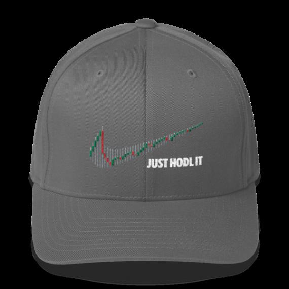 Just HODL it – Litecoin - Flexfit Structured Cap – Dark - Grey - Front