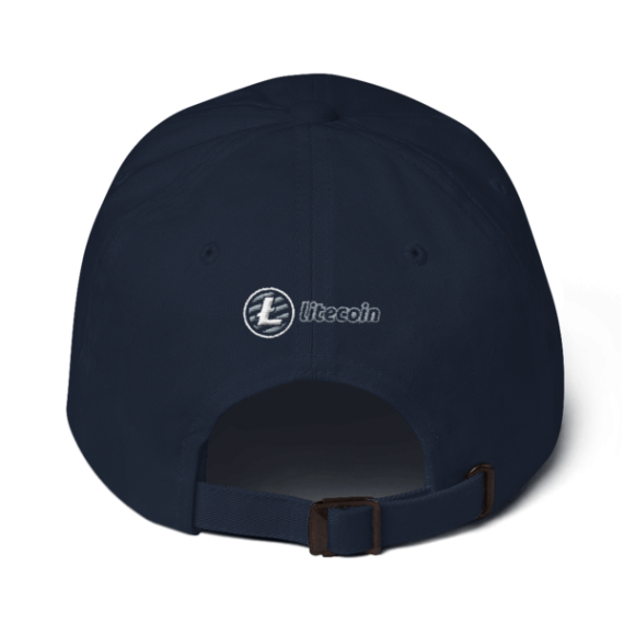Litecoin logo - 3D Puff – Low Profile Cap - Navy - Back