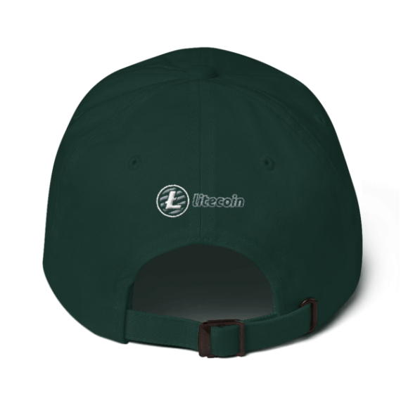 Litecoin logo - 3D Puff – Low Profile Cap - Spruce - Back