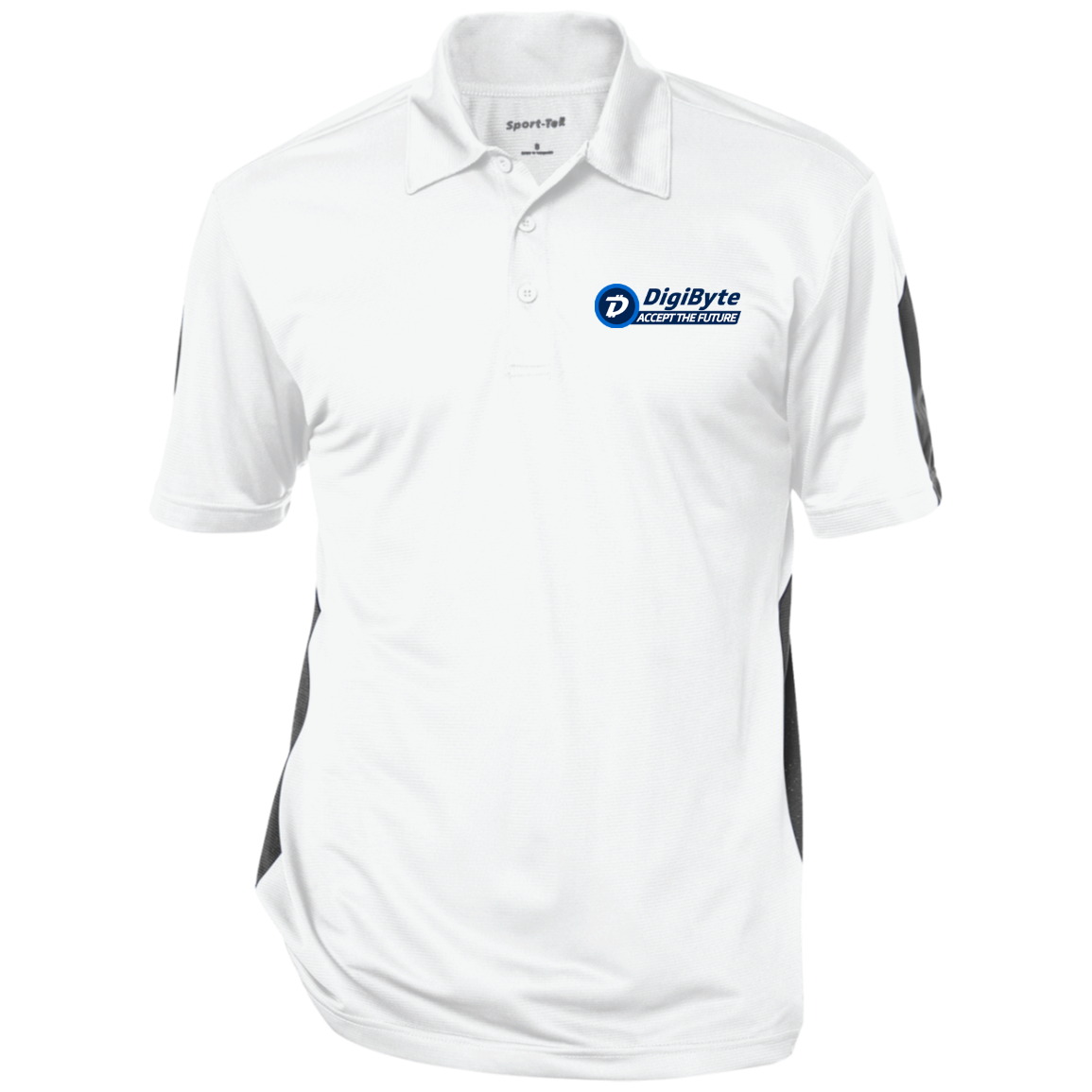DigiByte Accept the Future – Embroidered Performance Polo by Sport-Tek