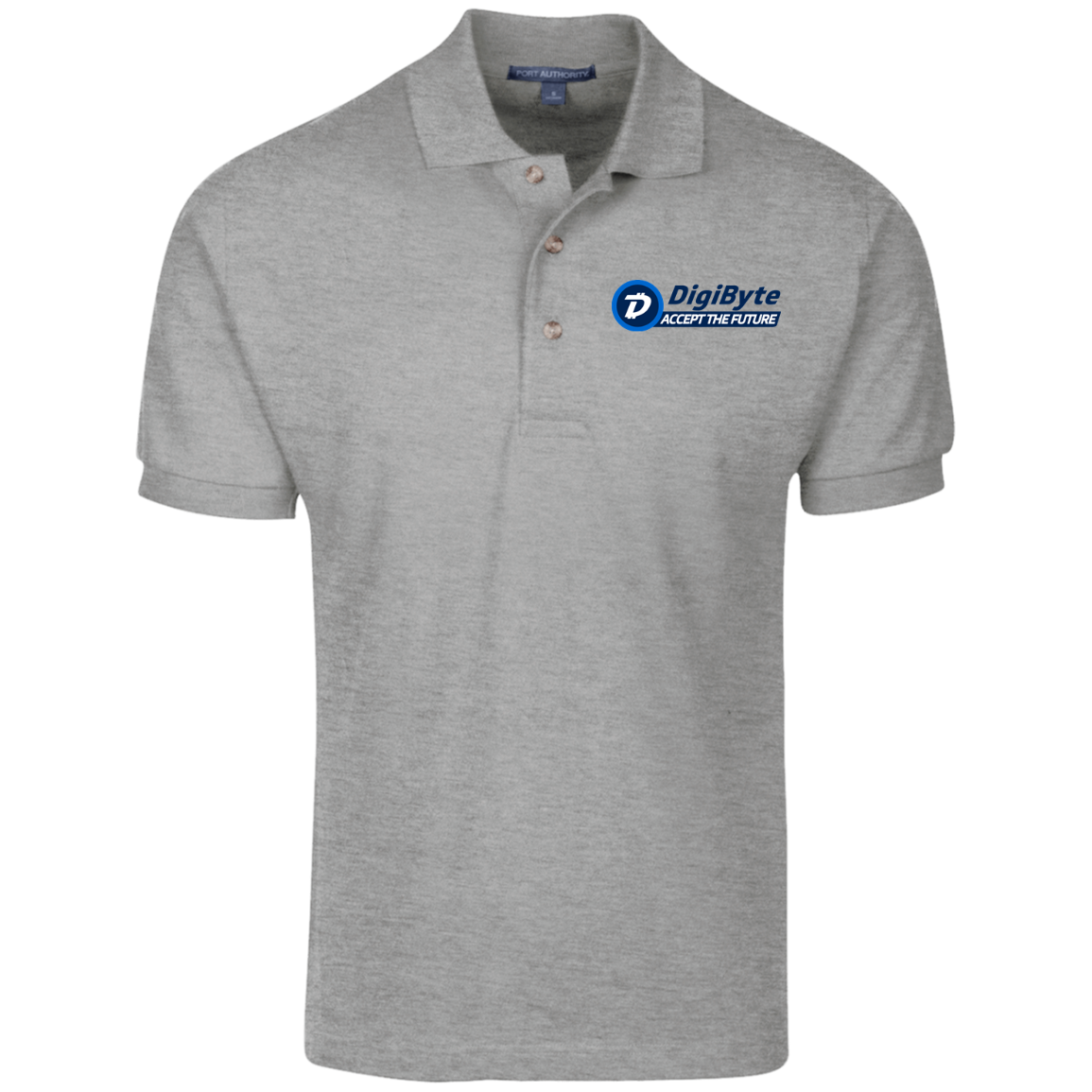DigiByte Accept the Future – Embroidered Cotton Polo by Port Authority