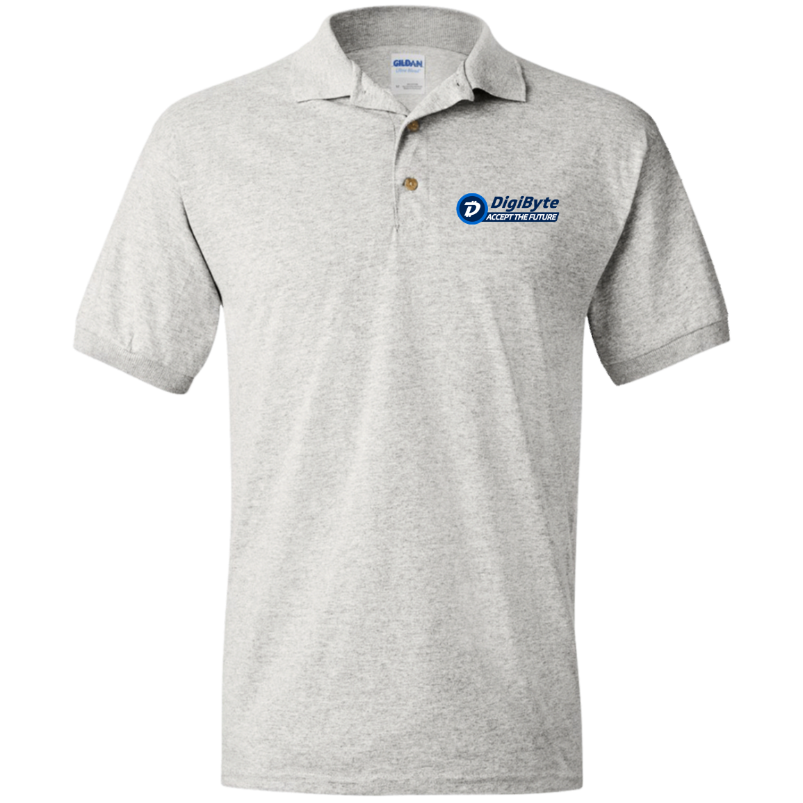 DigiByte Accept the Future – Embroidered Polo Shirt by Gildan