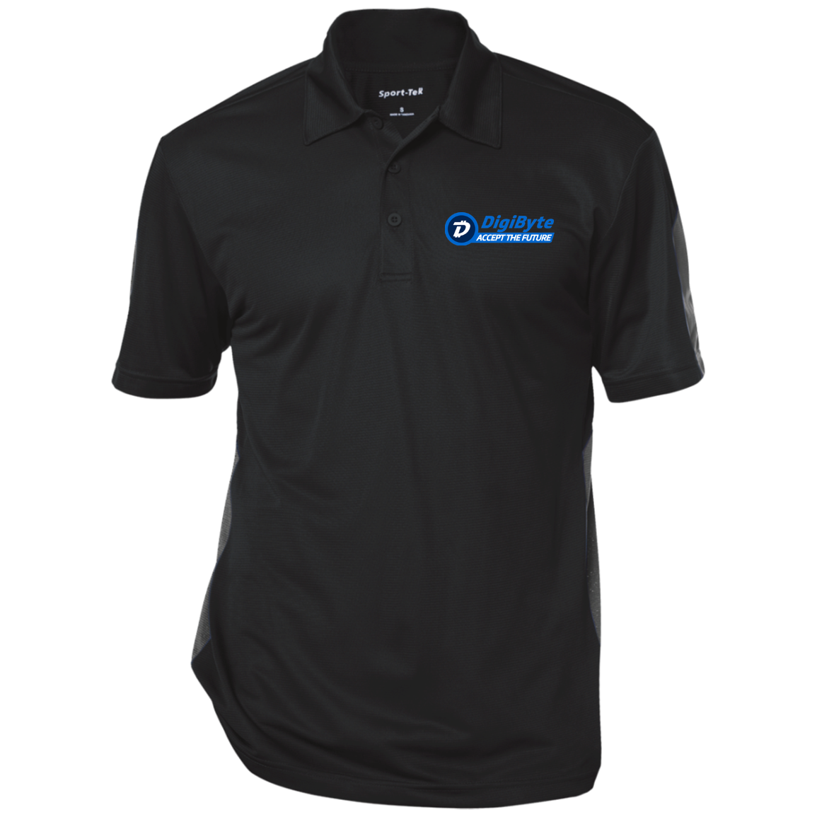 DigiByte Accept the Future – Embroidered Performance Polo by Sport-Tek (Dark)
