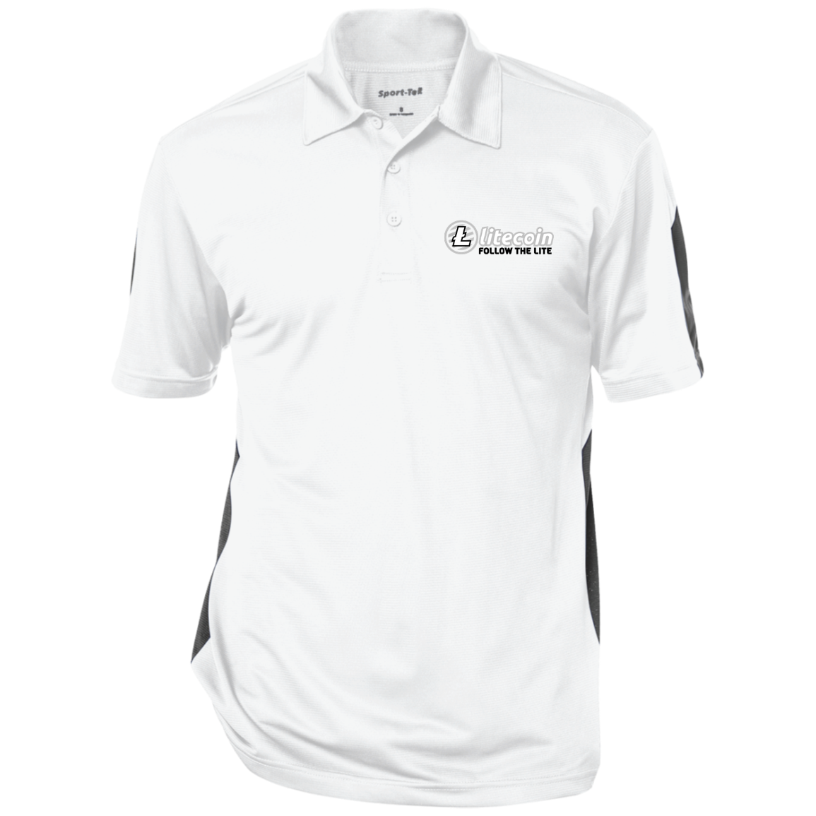 Litecoin Follow The Lite – Embroidered Performance Polo by Sport-Tek