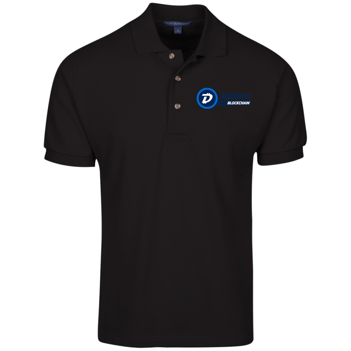 DigiByte Pure – Embroidered Cotton Polo by Port Authority (Dark)